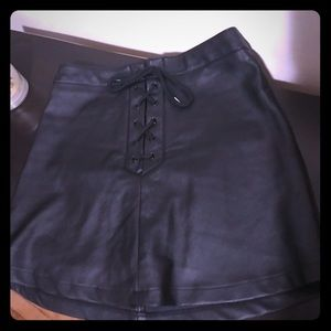 Leather skirt FAUX LEATHER